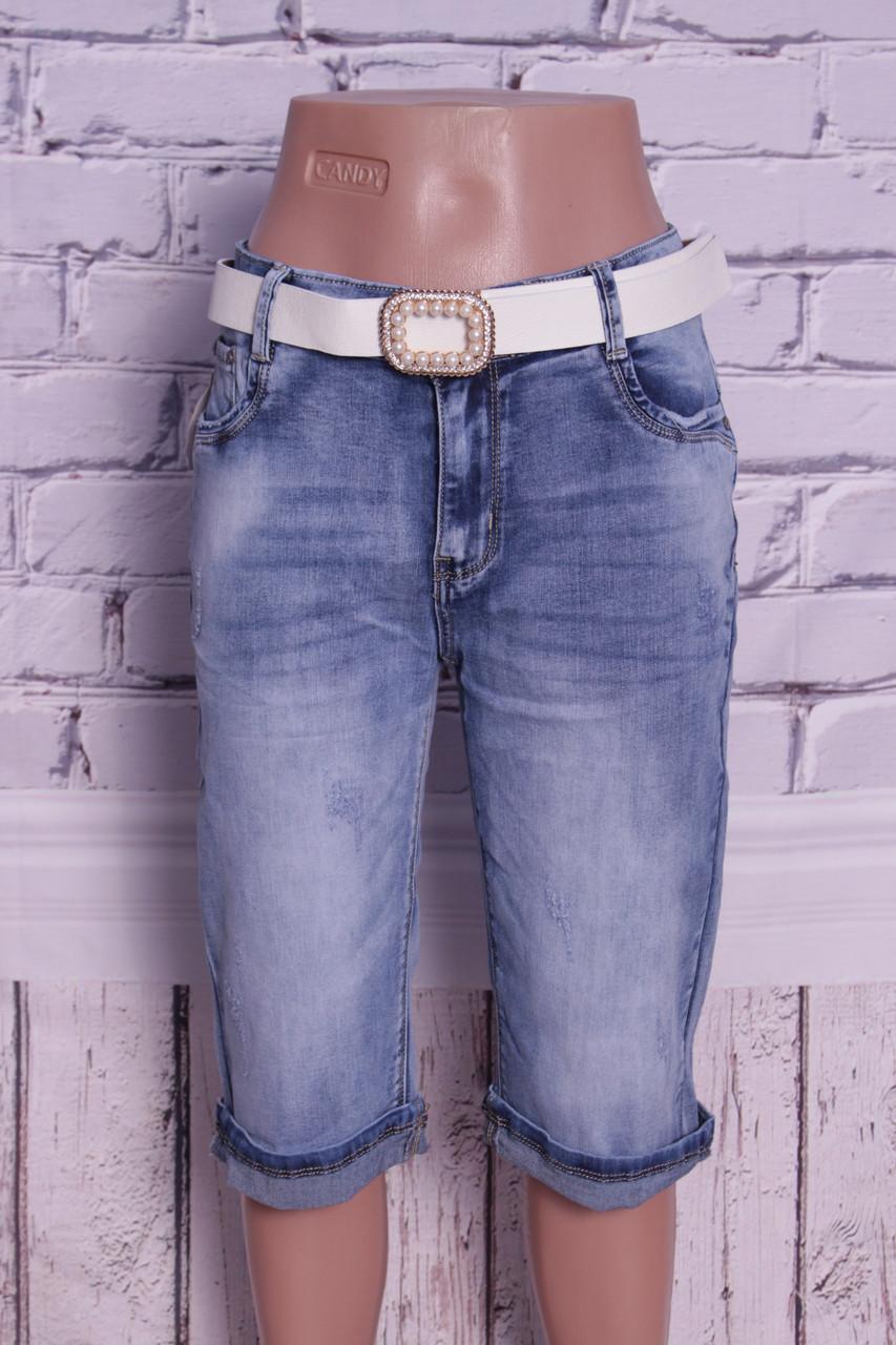 Женские джинсовые капри батал Moon Girl (код 8333)
