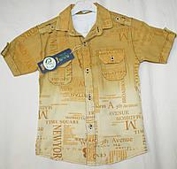 Летняя рубашка и футболка 5-6-7-8 лет Батист