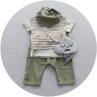 Детский летний костюм-тройка с тельняшкой
