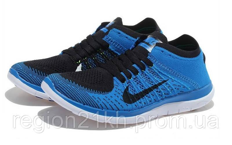 Кроссовки мужские Nike Free Flyknit 4.0 Sky Blue Black