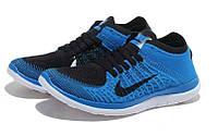 Кроссовки мужские Nike Free Flyknit 4.0 Sky Blue Black, фото 1