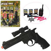 """Набор """"Полицейский"""" с пистолетом,присосками,рацией,часами и мишенью на блистере"""