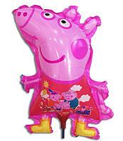 Воздушный шарик на палочке Свинка Пеппа