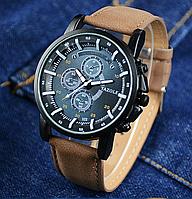 Наручные мужские часы c коричневым ремешком код 271