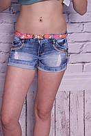 Женские стильные джинсовые шорты короткие (код 8218)