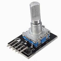 Энкодер с кнопкой, вал 20мм со срезом, на плате для Arduino