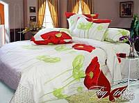 Постельный набор двуспальный из ранфорса Маки