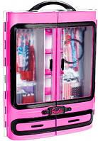 Шкаф-чемодан для одежды Mattel Barbie обновленный (DMT57)