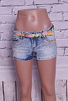 Красивые женские джинсовые шорты Miss Grace (код 8213)