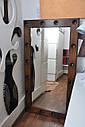 Большое зеркало с подсветкой натуральное дерево, фото 2