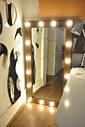 Большое зеркало с подсветкой натуральное дерево, фото 3