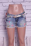 Красивые женские джинсовые шорты Miss Grace (код 0025)