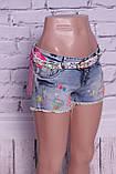 Красивые женские джинсовые шорты Miss Grace (код 0025), фото 2