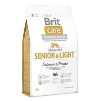 Brit (Брит) Полнорационный беззерновой корм с лососем для пожилых собак всех пород с избыточным весом Brit Care GF Senior L 3кг