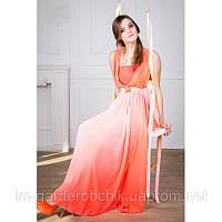 Вечернее длинное платье  из королевского шифона и микромасла., фото 1