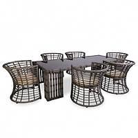 Комплект комплектующего для Kailash (1 стеклянная столешница и 6 сидушек)