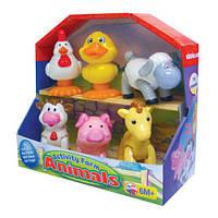 Игровой набор - ДОМАШНИЕ ЖИВОТНЫЕ для детей от 1 года (6 фигурок животных) ТМ Kiddieland - preschool 041244