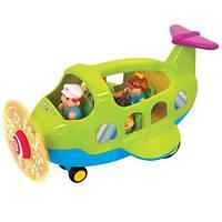 Игровой набор - САМОЛЕТ на колесах для детей от 18 месяцев (свет, звук) ТМ Kiddieland - preschool 039289