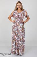 Летнее платье для беременных и кормящих мам Paradise р. 44-50 ТМ Юла Мама 27.072