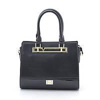 Черная женская каркасная сумка