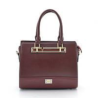 Красная каркасная женская сумка