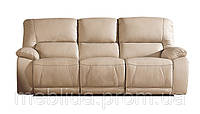 Аляска - 3х місний шкіряний диван з функцією релаксації («реклайнер»)