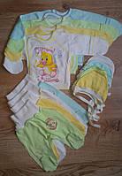 Набор для новорожденных девочка / мальчик кофточка + ползуны + шапочка 0 - 3 месяца.