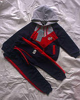 Костюм спортивный с капюшоном 2-нить на мальчика 1, 2, 3 лет в упаковке.