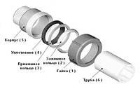 """Затискна муфта для сталевих труб c зовнішньо. різьбою 1/2"""" Gebo"""