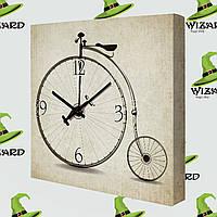 Часы на холсте Велосипед 14I009