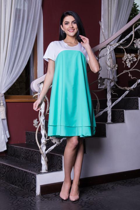 Купить Нежное женское платье с коротким рукавом  Хмельницкий ... c5884b2fd57