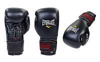 Перчатки боксерские EVERLAST 8-12 oz кожа Черный, 10 oz