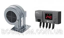 Комплект автоматика с турбиной  для твердотопливного котла KG Elektronik CS20+DP02