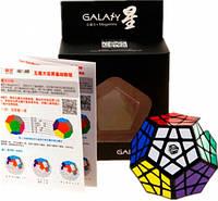 Игрушка головоломка Galaxy Megaminx concave черный пластик QiYi (QYXMD3), фото 1