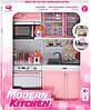 Кукольная кухня Маленькая хозяюшка розовая набор №5 Qun Feng Toys (26216P)