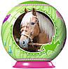 Пазл 3D Спортивные лошади 54 эл зеленый шар Ravensburger (11909-4)
