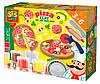 Пицца незасыхающая масса для лепки 4 цвета в баночках инструменты SES (0445S-1)