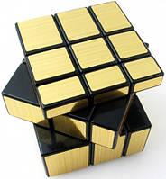 Зеркальный кубик головоломка 3 × 3 черный golden stickers ShengShou (SSMR12)