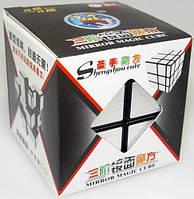 Зеркальный кубик головоломка 3 × 3 черный silver stickers ShengShou (SSMR11)