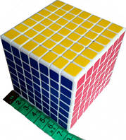Кубик головоломка скоростной mini Wind 7x7x7 белый пластик ShengShou (SSMN72), фото 1