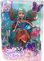 Волшебная фея бабочка в бирюзово оранжевом платье 25 см Sparkle girlz Funville (FV24389-4)
