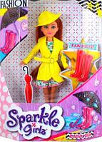 Кукла модница Ванесса в осеннем желтом плаще 25 см Sparkle girlz Funville (FV24075-1)