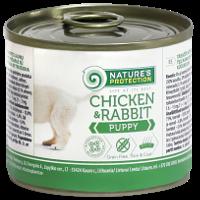 KIK45090 Nature's Protection Puppy Chicken & Rabbit, 400 гр