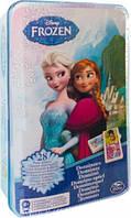 Настольная игра домино Ледяное сердце в жестяной коробке Spin Master (SM98408/6033086)