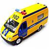 Газель полиция свет звук Автомодель ТЕХНОПАРК (CT-1276-17P)