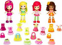 Ягодный гардероб Шарлотта Земляничка 4 куколки 20 эл одежды Strawberry Shortcake (12254N)