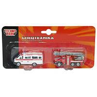 Игровой набор Спецслужбы пожарная и скорая Технопарк (SB-15-07-BLC)