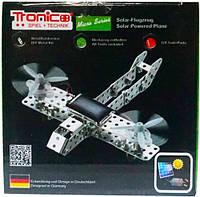 Конструктор металлический Самолет на солнечной батарее 129 дет Tronico (9605-2)