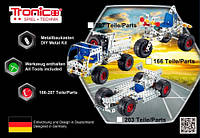 Конструктор металлический Гоночная машина 203 дет Tronico (9725-2)