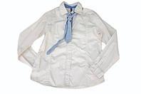 Рубашка с галстуком для мальчика бежевого цвета.